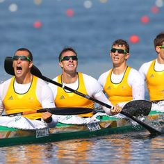 Australian Men's K4 1000m,  wins gold at the London Olympics. Tate Smith, David Smith,  Murray Stewart and Jacob Clear.