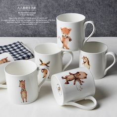 2017 Creative Animal series,Bone china,creative coffee cup,European style coffee set,suit for coffee and black tea,free shipping