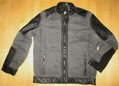 * * * MUSTANG Bikerjacke grau/schwarz, Gr.50 * * * Mustang, The North Face, Link, Fashion, Clothing Accessories, Jackets, Grey, Black, Moda