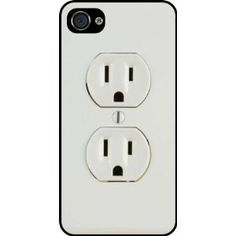 Amazon.com: Rikki Knight Funny Electrical Outlet Black Hard Case Cover for Apple iPhone 4
