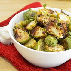 Garlic Balsamic Roasted Brussels Sprouts: Simple and yummy.