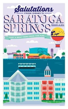 Walt Disney World Hotels and Resort Posters - Saratoga Springs