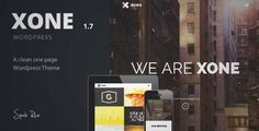 Download and review of Xone - Clean One Page WordPress Theme, one of the best Themeforest Creatives themes