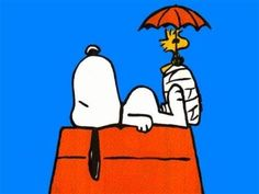 Snoopy.. this reminds me of my dog Spencer when he broke his leg and was in a cast.