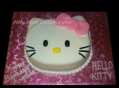 Hello Kitty Head with pink bow cake
