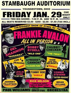 1960 Show of Stars poster. Interesting that the only black performers is the Paul Williams band....