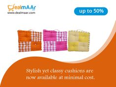 Buy #cushions and #covers online at dealmaar and get 50% off