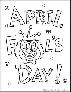 April Fools coloring page and April Fools song for preschool, kindergarten, ESL and children with special needs.
