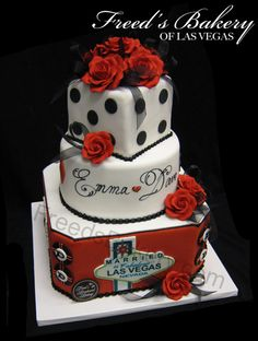 Very similar to the cake that inspired the card box we used at our wedding reception! :)