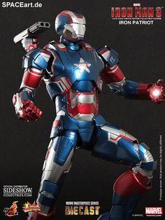 Iron Man 3: Iron Patriot - DieCast, Voll bewegliche Deluxe-Figur ... http://spaceart.de/produkte/irm019.php
