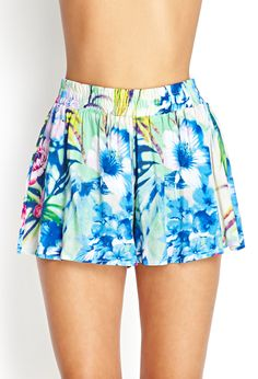 Tropical Print Flowy Shorts at Forever 21. Get a discount: http://www.studentrate.com/all/get-all-student-deals/Forever21-Student-Discounts--/0