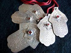 Hands of Fatima - Khamsa - Berber, Southern Morocco Ethnic Jewelry, Beaded Jewelry, Beautiful Dark Art, Hamsa Necklace, Moroccan Design, Hand Of Fatima, Hamsa Hand, Lucky Charm, Jewelery