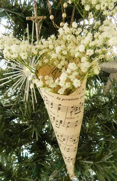 paper cone babys breath - Google Search