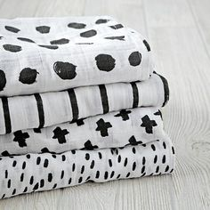 Freehand Swaddle Blankets by Ashley G for The Land of Nod and Aden and Anais