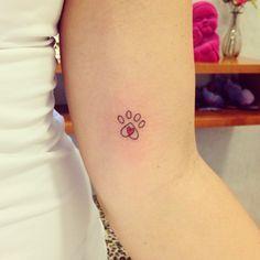 #tattoo #tatuagem #patinha #dog #cachorro #amor #tatianaalves