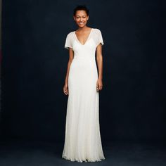 J. Crew Beaded Wedding Gown