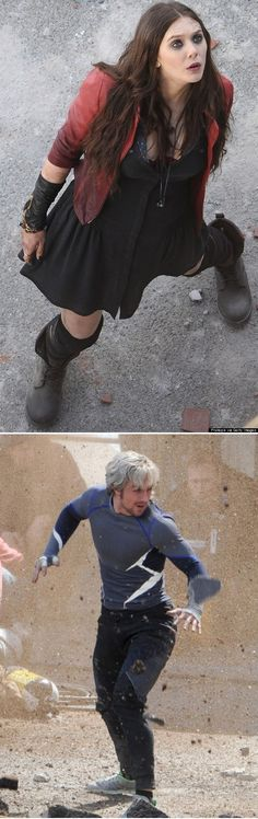 Avengers 2 Set Photos Finally Reveal Scarlet Witch and Quicksilver - - -  AHHHH! @jordanloggins @Kimberly Peterson Peterson Peterson Wallace