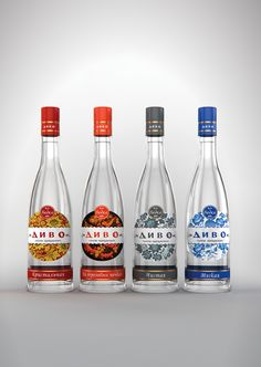 Concept Packaging vodka Divo, #unblvbl, #branding, #package, #design, #packingalcohol, #pack, #packing, #vodka, #russianvodka, #spirit, #saberov, #russianornament, #хохлома