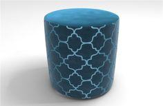 Bella stool in Plain Heaven and Silhouette Petrol Blue