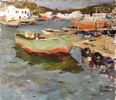 "Ruslan Ivashenko  Berth In Balaklaeva  Oil on canvas  28""X32""  (70x80 Cm)  $2000    For more information about this artist visit www.silvanagallery.com"