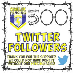 We must admit we really are feeling the love on Twitter! A big shout out and thank you to every single one of our 500 Fencing Followers who have followed, hearted, retweeted and passed on all those Fantastic Fencing leads! So if you are a tweeter then pop past to see all the excitement! @ObelixF Gate Motors, Twitter Followers, Follow Us On Twitter, Happy Dance, Social Media Design, Say Hi, Fencing, Shout Out, Suddenly