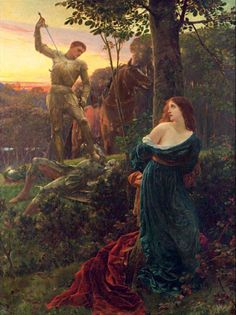 "If you're picturing a knight in shining armor rescuing a damsel in distress, you're not alone. Consider the 1885 Frank Dicksee painting below, simply titled ""Chivalry"". So, there we have it—chivalry is rescuing a damsel in distress. Frank Dicksee, Pre Raphaelite Paintings, Art Ancien, Knight In Shining Armor, Chivalry, Classical Art, Fine Art, Oeuvre D'art, Middle Ages"
