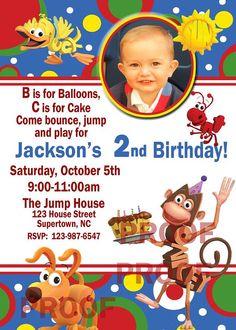Word World Birthday Party Invitation Digital by DazzelPrintz