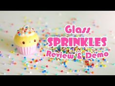 Glass Sprinkles for Polymer Clay Review/Demo - YouTube