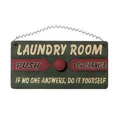 Laundry Room Service Request Sign