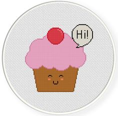 FREE for Oct 2nd 2014 Only - Friendly Cupcake Cross Stitch Pattern