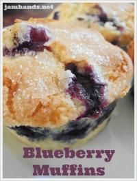 Bursting Blueberry Muffins are quick and easy for breakfast on MyRecipeMagic.com #muffins #blueberry