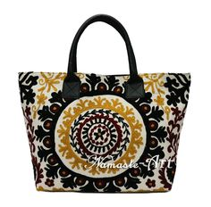 Indian Cotton Embroidery Suzani Handbag Tote Shoulder Woman Beach Boho Bag #Unbranded #TotesShoppers