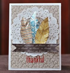 Deanna Thankful-love the paper feathers from the 6x6 pad!