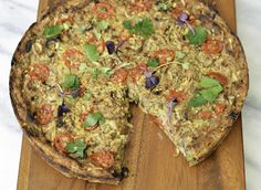 Yes technically, frittata is made with eggs, trust me you will not miss the eggs!! This recipe has incredible flavor and texture with sauteed mushrooms, broccoli caramelized onions and a sweet potato crust! I used white beans & flax seeds in place of eggs, i have to admit, i was