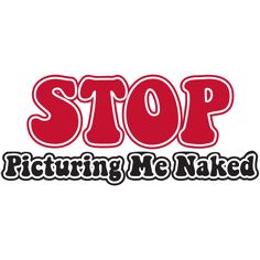 STOP PICTURING ME NAKED Fun NEW Funny Biker Vest Patch