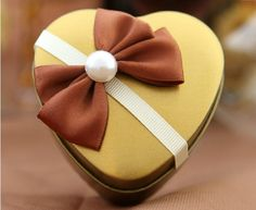 Instock 50pcs/lot Free Shipping Heart Design Tin Cans Metal Favors Boxes Bowknot with Pearl Wedding Candy Holders -in Event & Party Supplies from Home & Garden on Aliexpress.com
