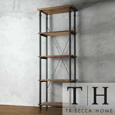 TRIBECCA HOME Myra Vintage Industrial Modern Rustic Bookcase | Overstock.com Shopping - Great Deals on Tribecca Home Media/Bookshelves #fundas #móviles #originales