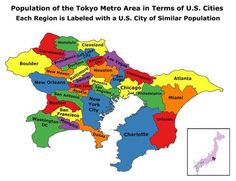 This is the Tokyo metropolitan area compared to US cities (SO NOT LIKE WITH LIKE).