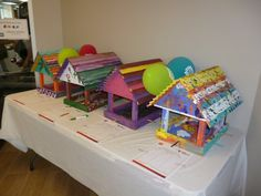 Bird House Silent Auction for Strong Kids Campaign.