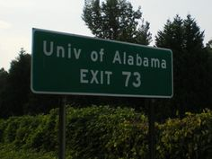 Everytime I pass this sign I fall even more in love with Brent. Sunday drives back to Tuscaloosa and watching the sunset on the way holds so many memories for us. So proud of him and can't believe he is about to Graduate and go to law school. Crimson Tide Football, Alabama Football, Alabama Crimson Tide, Bama Fever, Sweet Home Alabama, University Of Alabama, Roll Tide, Rolls, Ipad