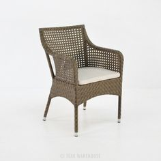 Ellen Wicker Dining Chair (Sand)-0