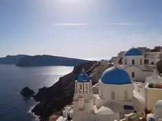 Make your proposal on the top of the island! #Santorini