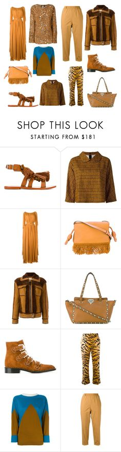 """Brown Bodies"" by donna-wang1 ❤ liked on Polyvore featuring Twin-Set, Eggs, Elie Saab, Loewe, Coach, Valentino, Givenchy, Dsquared2, Marni and Forte Forte"
