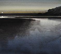 SEASCAPES - NAOMI TYDEMAN RI Watercolor Ocean, Watercolor Landscape, Watercolor Paintings, Watercolours, Seascape Art, Water Reflections, Landscape Artwork, Land Scape, Fine Art