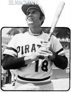 Víctor Davalillo, con el uniforme de los Piratas de Pittsburgh. En los entrenamientos primaverales, en el Three Rivers Stadium. Pittsburgh, 17-03-1971 (ARCHIVO EL NACIONAL)