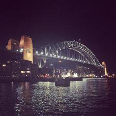 Sydney Harbour Bridge. Beautiful night beautiful city. #sydney #sydneyharbourbridge by koinc http://ift.tt/1NRMbNv