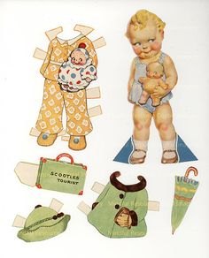 Kewpie Scootles Tourist 1939 Printable Paper Dolls by mindfulresource