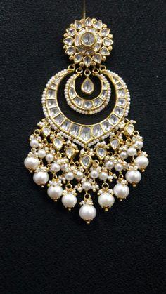 Chand bali Gold Jhumka Earrings, Indian Earrings, Indian Wedding Jewelry, Bridal Jewelry, Indian Bridal, India Jewelry, Fine Jewelry, Rajputi Jewellery, Halo