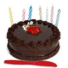 Exclusive Fresh 1 Kg. Chocolate/black Forest Cake/ other available flavours from standard bakery of the delivery city with Cake Slicer and Candles - Send this exclusive gift to your loved ones through us