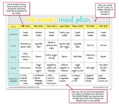 Weekly meal planner! YES... need this and laminate!